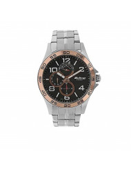Titan Workwear Men's Chronograph Watch - Quartz, Water Resistant, Stainless Steel Strap - Silver Band and Black Dial