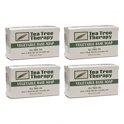 Tea Tree Therapy, Soap Bar, Vegetable Base, 3.9 oz (4-Pack)