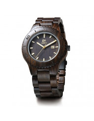Wooden Watches LeeEV Men's Zebra Sandalwood Analog Japanese Quartz Wood Watch (Black Sandalwood)