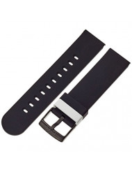 b&nd by Hadley Roma with Mode 22mm Silicone Black Watch Strap
