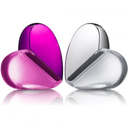 Eau De Fragrance Perfume Sets for Girls - Perfect Body Mist Gift Set for Teens and Kids - Hearts (Silver/Pink) - 2 Pack