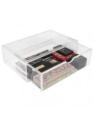 Sorbus Acrylic Cosmetics Makeup and Jewelry Storage Case X-Large Display Sets -Interlocking Scoop Drawers Create Your Own Makeup Counter -Stackable and Interchangeable