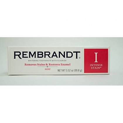 Rembrandt Toothpaste, Intense Stain, Mint Flavor, 3.52 oz (4 Pack)