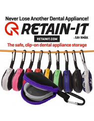 Retain-It - The Safe, Clip-on, Retainer, Mouth Guard and Dental Appliance Storage Solution! (Purple)