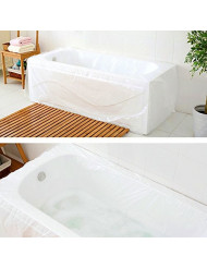 TFY Ultra Large Disposable Film Bathtub Bag for Salon, Household and Hotel Bath Tubs (78 inch x 47 inch) - 5 Pieces