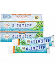 Auromere Ayurvedic Herbal Toothpaste, Classic Licorice Flavour - Vegan, Natural, Non GMO, Fluoride Free, Gluten Free, with Neem & Peelu (4.16 oz), 2 Pack