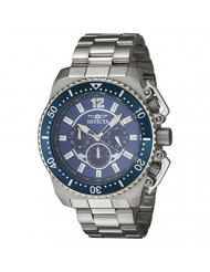 Invicta Men's Pro Diver Quartz Watch with Stainless-Steel Strap, Silver, 24 (Model: 21953)