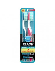 Reach Fresh and Clean Toothbrush, Soft, 4 Count (Pack of 3) Total 12 Toothbrushes