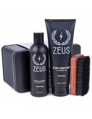 ZEUS Basic Beard and Mustache Grooming Kit, Sandalwood