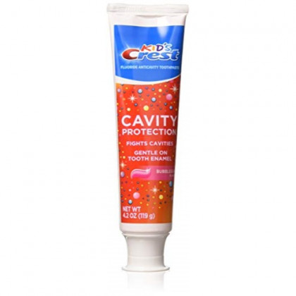 Crest Kid's Crest Cavity Protection Toothpaste Gel Formula, Bubblegum, 4.2 Ounce (Pack of 3)