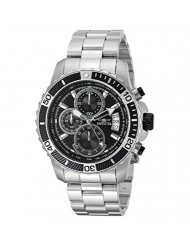 Invicta Men's Pro Diver Quartz Watch with Stainless-Steel Strap, Silver, 22 (Model: 22412)