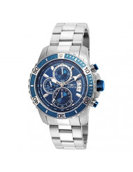 Invicta Men's Pro Diver Quartz Watch with Stainless-Steel Strap, Silver, 22 (Model: 22413)