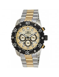 Invicta Men's Pro Diver Quartz Watch with Two-Tone-Stainless-Steel Strap, 24 (Model: 22519)