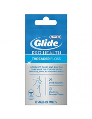 Glide Threader Floss, 30 Single-Use Packets each (Value Pack of 8)