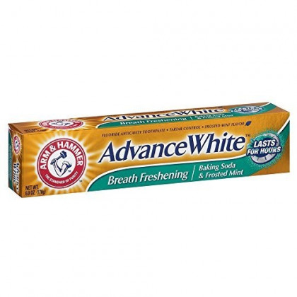 ARM & HAMMER Advance White Baking Soda Toothpaste, Frosted Mint 6 oz (Pack of 12)