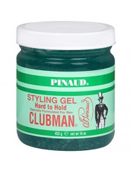 Pinaud Clubman Styling Gel Hard To Hold 16 oz (Pack of 4)