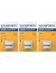 Neosporin Lip Health Overnight Renewal Therapy 0.27 oz (Pack of 3)