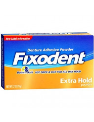 Fixodent Denture Adhesive Powder Extra Hold 2.70 oz (Pack of 5)