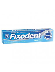 Fixodent Free Denture Adhesive Cream 2.40 oz (Pack of 4)