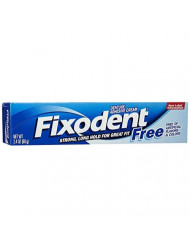 Fixodent Free Denture Adhesive Cream 2.40 oz (Pack of 5)