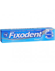 Fixodent Free Denture Adhesive Cream 2.40 oz (Pack of 10)