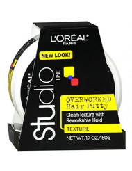 L'Oreal Studio Line Overworked Hair Putty 1.70 oz (Pack of 10)