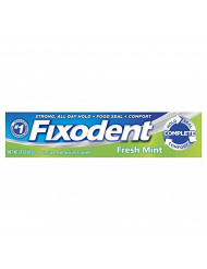 Fixodent Denture Adhesive Cream, Fresh Mint 2.40 oz (Pack of 4)