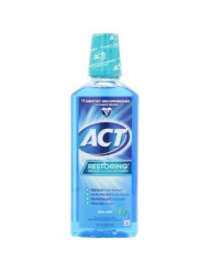 ACT Restoring Anticavity Fluoride Mouthwash Cool Mint 18 oz (Pack of 2)