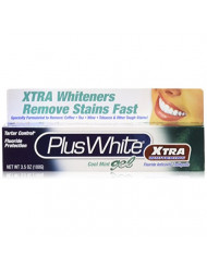 Plus White Xtra Whitening Toothpaste Gel Cool Mint 3.50 oz (Pack of 5)
