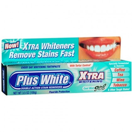 Plus White Xtra Whitening Toothpaste Gel Cool Mint 3.50 oz