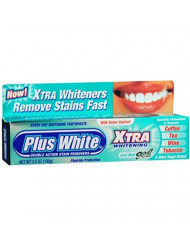 Plus White Xtra Whitening Toothpaste Gel Cool Mint 3.50 oz (Pack of 10)