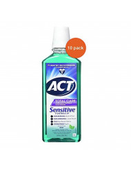 ACT Total Care Anticavity Fluoride Mouthwash Sensitive Formula Mild Mint 18 oz ( Pack of 10)