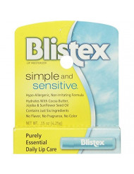 Blistex Simple & Sensitive Lip Moisturizer 0.15 oz (Pack of 10)