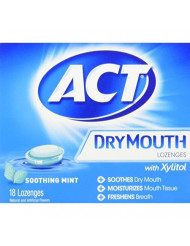 Act Dry Mouth Mint Lozeng Size 18ct,pack of 2