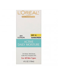 L'Oreal Active Daily Moisture Lotion 4 oz (Pack of 2)