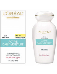 L'Oreal Active Daily Moisture Lotion 4 oz (Pack of 4)