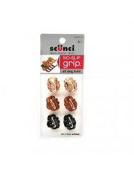 Scunci No-Slip Grip Mini Octopus Jaw Clips 6 ea (Pack of 4)