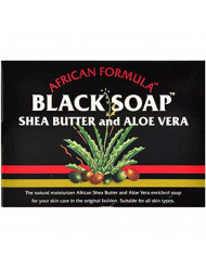 Madina African Black Soap Shea Butter and Aloe Vera, 3.5 oz