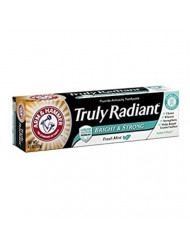 ARM & HAMMER Bright & Strong Truly Radiant Toothpaste, Crisp Mint 4.3 oz (Pack of 5)