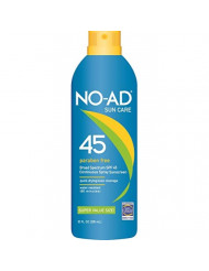 NO-AD Continuous Spray Sunscreen SPF 45 10 oz (Pack of 3)