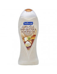 Softsoap Ultra Rich Shea Butter and Almond Oil Moisturizing Body Wash 15 oz (Pack of 8)