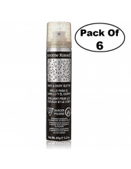 Jerome Russell Hair & Body Glitter Spray, Silver 2.2 oz (Pack of 6)