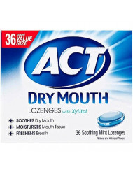 Act Dry Mouth Mint Loz 36 Size 36ct Act Dry Mouth Mint Lozenges 36ct