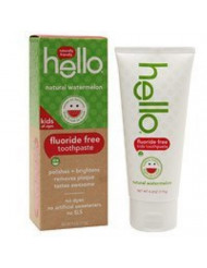 Hello Kid's Toothpaste, Watermelon, 4.2oz Tube (Pack of 2)