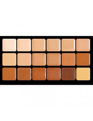 Graftobian Creme Foundation Warm Super Palette High Definition Makeup Kit - 18 Warm HD Full Coverage Pigment Concealers for Smooth, Buildable Application and Creaseless Finish