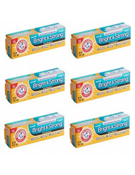 Arm & Hammer Truly Radiant Bright & Strong Whitening Toothpaste .9 Oz Travel Size (Pack of 6)