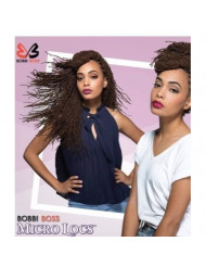 """Bobbi Boss Synthetic Hair Crochet Braids African Roots Braid Collection Micro Locs 18"""" (1 - Pack, 1B)"""
