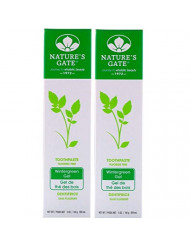 Nature's Gate Natural Toothpaste Without Fluoride, Wintergreen 5 oz (Pack of 2) Set