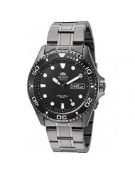 Orient Men's Swiss Automatic Watch with Stainless-Steel Strap, Black, 21 (Model: FAA02003B9)