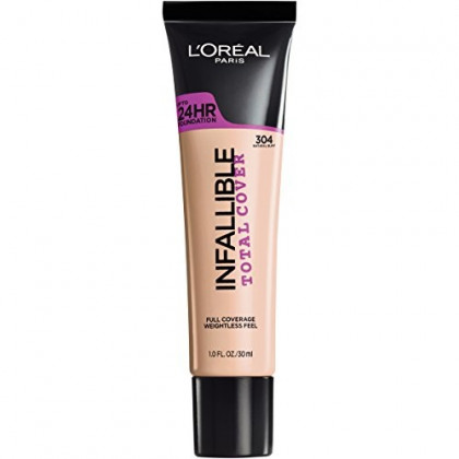 L'Oreal Paris Infallible Total Cover Foundation, Natural Buff, 1 fl. oz.